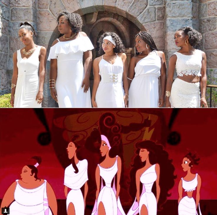 We're giving an awesome 10 for 10 to these ladies and their group DisneyBound at Disneyland last week as the Muses from Disney's Hercules.