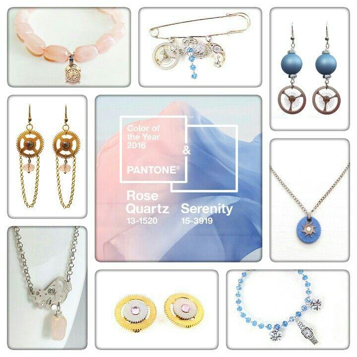 Pantone's colors of the year 2016: Rose Quartz & Blue Serenity Jewellery