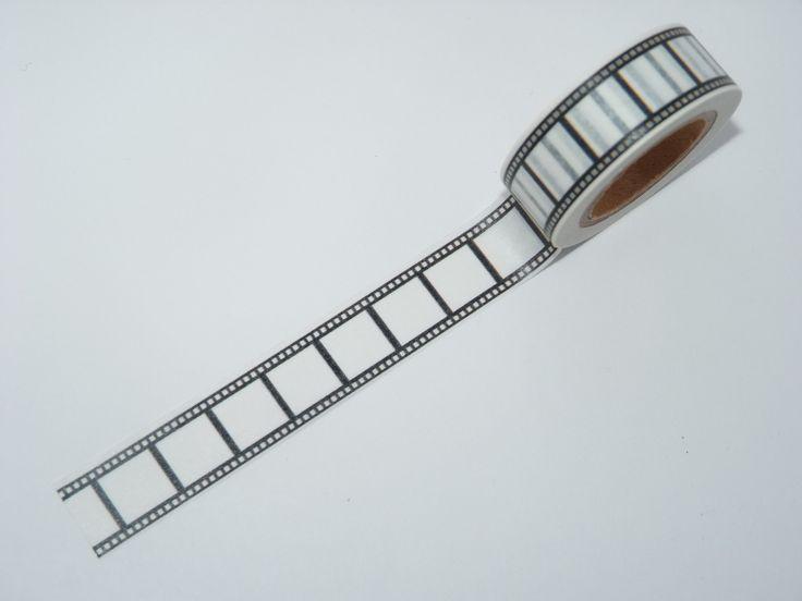Masking Tape motifs Noir et blanc pellicule film cadeau washi tape emballage vintage scrapbooking fun décoration : Masking tape par let-s-have-fun-today