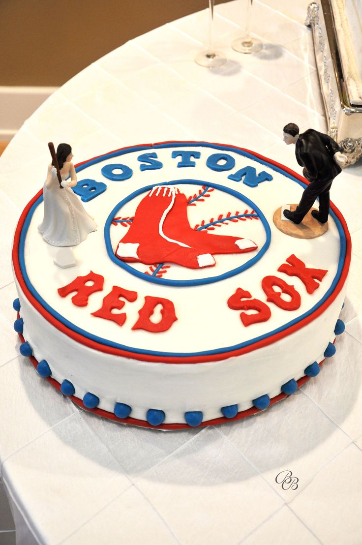 Red Sox Groom's cake. Perfect!
