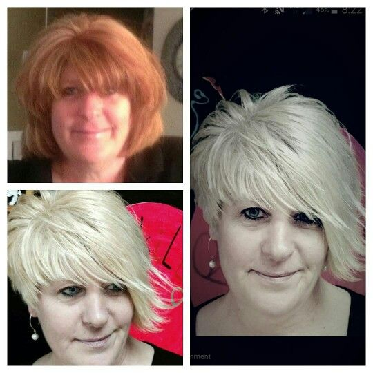 Goldwell silk lift.....awesome cool blonde!