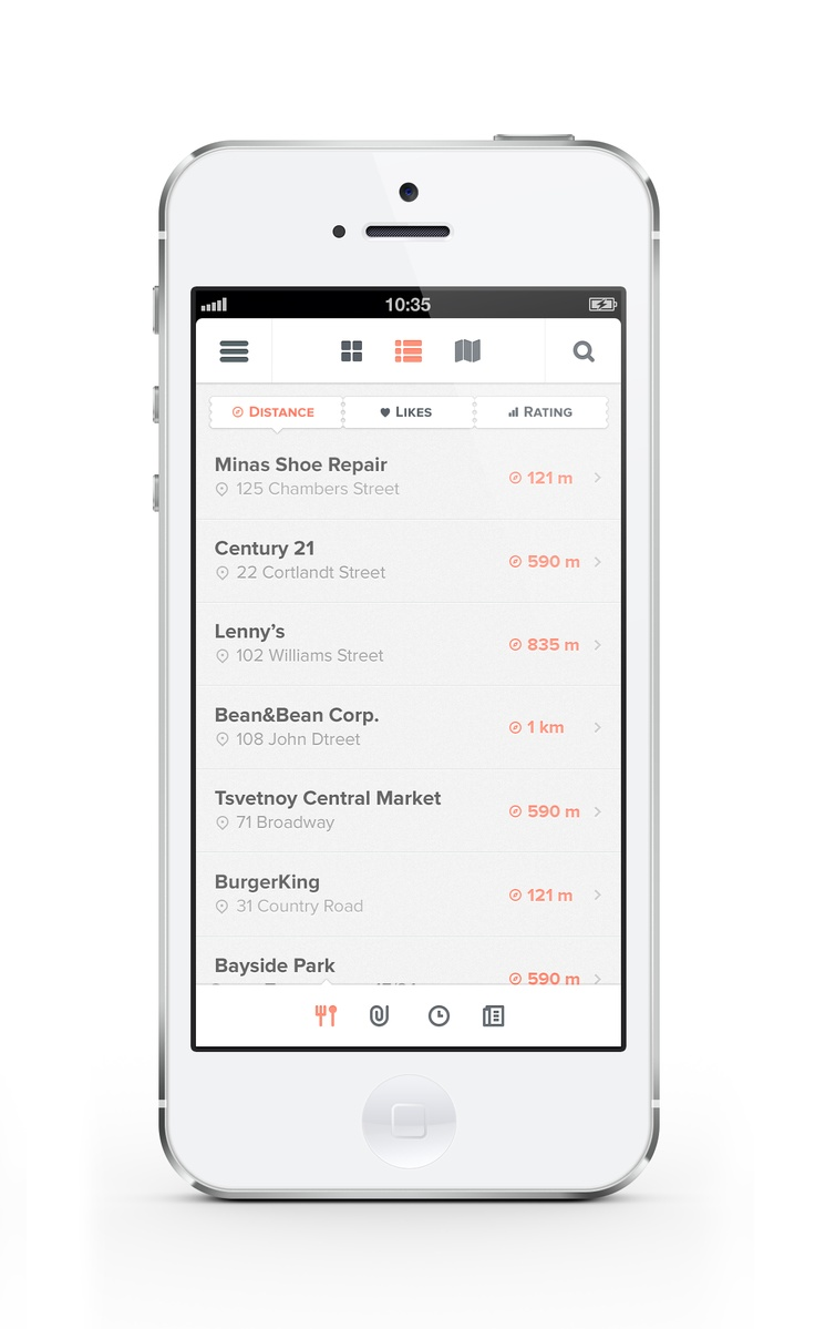 Mobile app interface UI UX