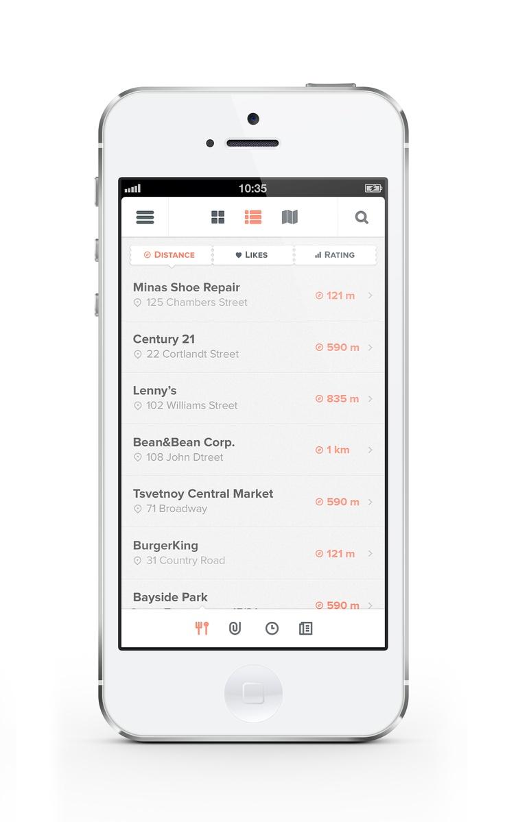 Mobile app interface UI UX