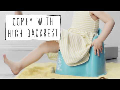BABYBJÖRN Potty Chair and Safe Step -- smart design for bathroom beginners. Find it and more at www.boomersandechoes.com