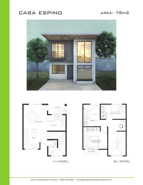 Modelos de casas de dos pisos casas prefabricadas costa for Disenos de casas chicas