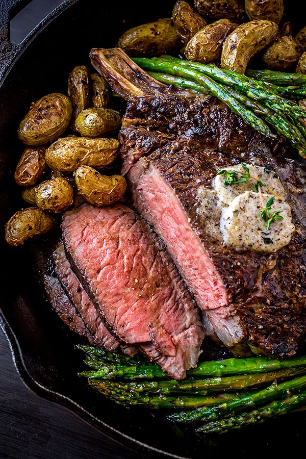 Pepper-Crusted Cowboy Rib Eye Steak (recipe) / by The Cozy Apron