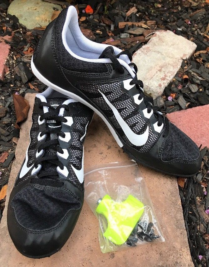 Nike Zoom Rival MD 7 Sprint Track Spikes Shoes Mens Sz 10 Black White 616312-010    eBay