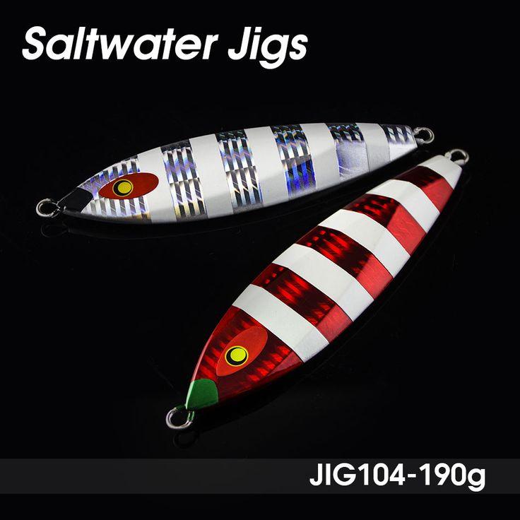Retail 190g Deep seawater fishing lure, slow jigs, jigging lures, lead metal jigs, Japan Luminous Glow Lures, free shipment