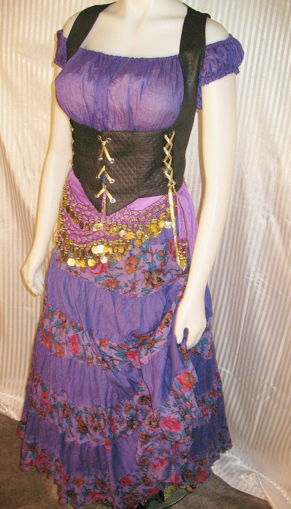 medieval gypsy clothing | Renaissance Gypsy Costume in Purple by FashionRules on Etsy