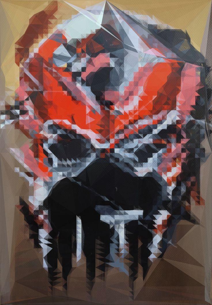 Illustration Ducati Superleggera polygon art
