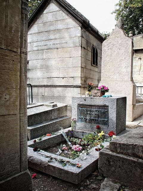Jim Morrison's tomb in Paris (cimetière du Père Lachaise)
