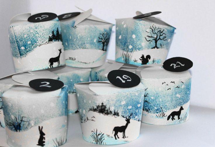 """Weihnachten - Adventskalender """"Winterland"""" oder Sächelchen-Spiel - ein Designerstück von centipede bei DaWanda"""