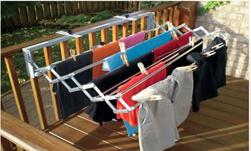 "Drying Rack Dryer - expands up to 10 meters in length and folds up to only 6"" wide for simple, easy storage. Designed to fit everywhere, this drying rack is practical and easy to install, both indoors and out."