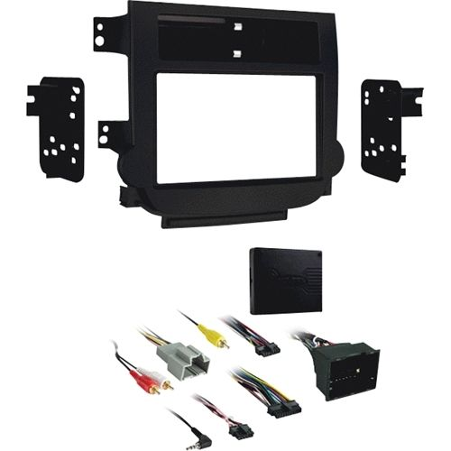 Metra - Double DIN Installation Kit for Chevrolet Malibu with Auto Climate 2013-up - Black