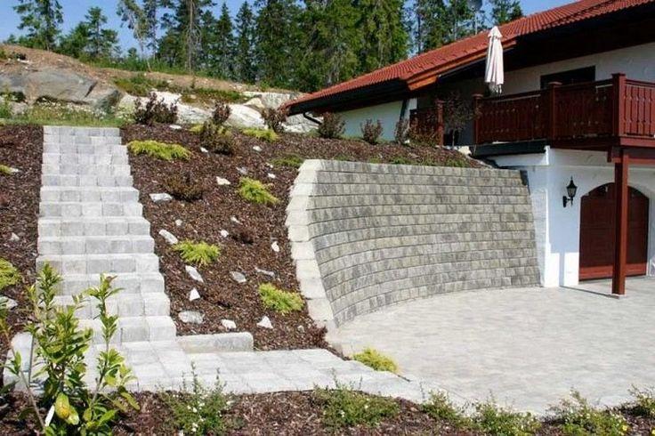 Am nager son jardin en pente avec un mur de sout nement en for Impermeabiliser un mur exterieur