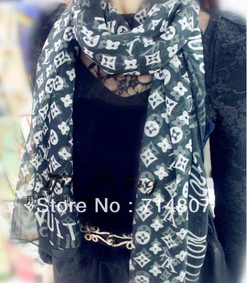 High quality fashion classic atifical scarf hot selling 2013 latest designer silk scarf for women $3.68