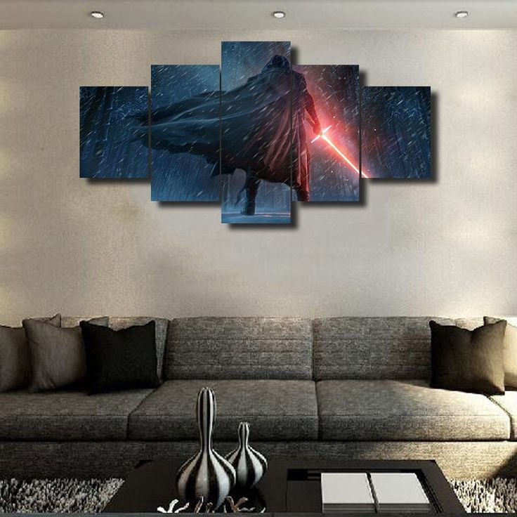 Kylo Ren, 5 Panel Framed Canvas Wall Art