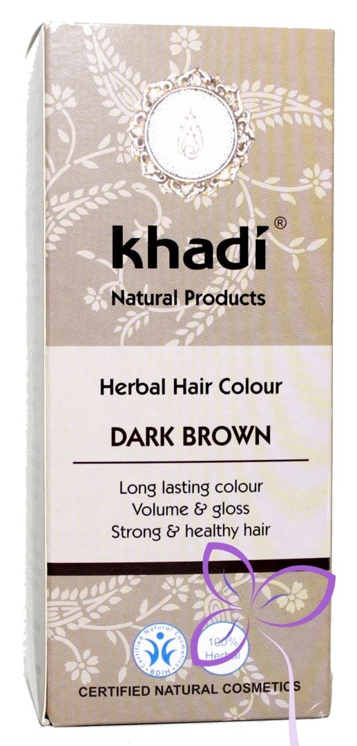 Khadi * Pflanzenhaarfarbe dunkelbraun