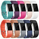 Fitbit Charge 2 Heart Rate + Fitness Wristband, Teal, Large