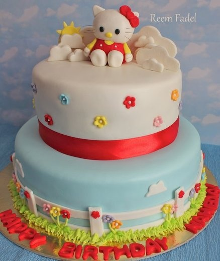 120 best HELLO KITTY Fondant Cake images on Pinterest Fondant