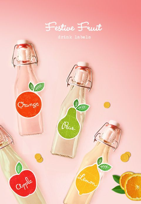 free printable drink labels cute
