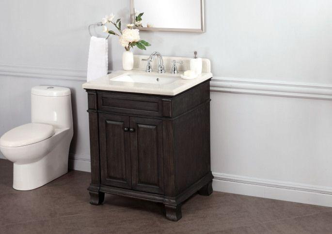 Kingsley 28 Quot Single Sink Vanity With Alpine Mist