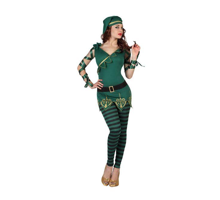 #Disfraz de #Duende verde de rayas para mujer. #saintpatrick #stpatrick #sanpatricio #disfraces #disfrazzes #costume #costumes