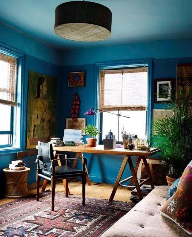 40 Elegant Blue Office Decor Ideas Office  Workspace Pinterest
