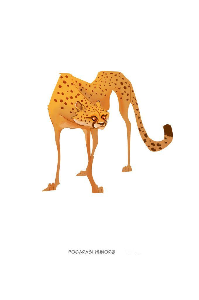 Cheetah, Hunor Fogarasi on ArtStation at https://www.artstation.com/artwork/VJ4xn