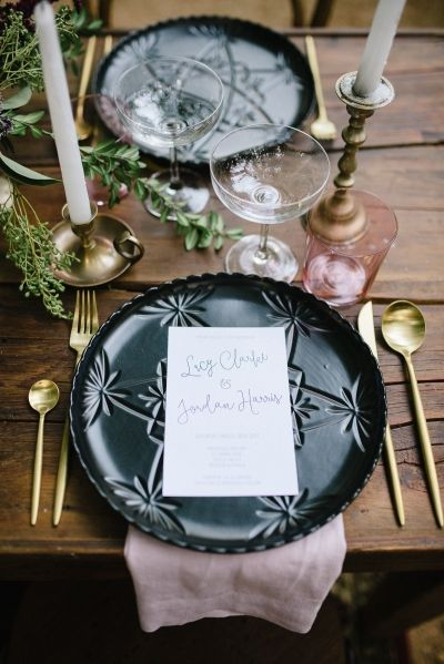 Romantic Outdoor Winery Ideas With Marsala - Polka Dot Bride - Perth Wedding Photography - Antique Gold Table Inspiration