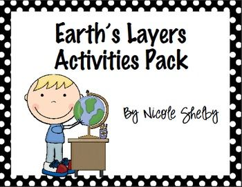 Earth's Layers Activity Pack