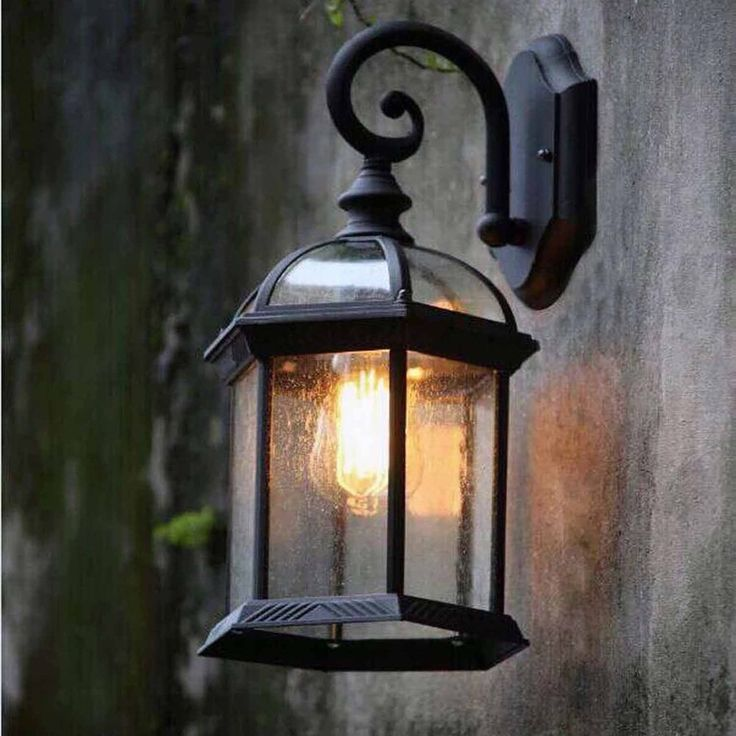 LED Glass Retro Industrial Porch Wall Light Wall Sconce Lamp Waterproof  Modern