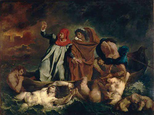 """""""La Barque de Dante"""" ou """"Dante et Virgile aux enfers"""""""