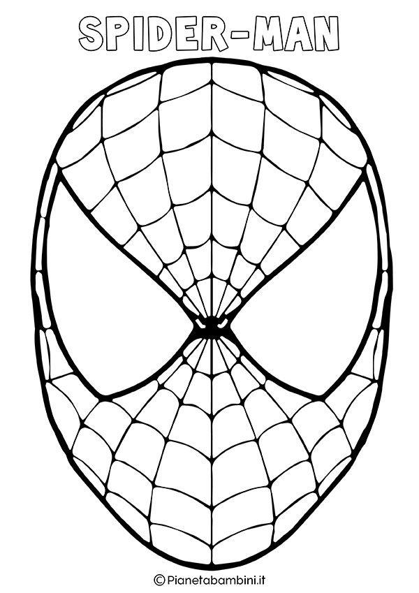 Spidermen Da Colorare.Maschere Di Supereroi Da Colorare Per Bambini Maschere