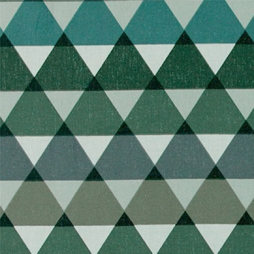 Bomuld m grønne grafiske trekanter