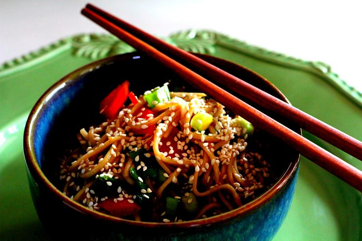 Soba noodle salad. Vegetarian cooking class at Relish Mama cooking school August 10th 2013 11am.