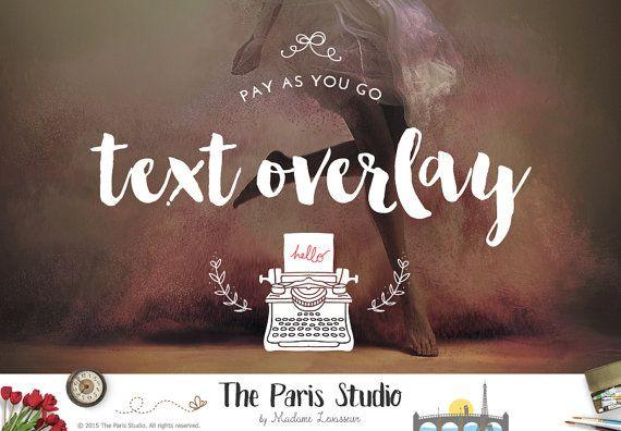 Text Overlay Design Custom Text Design Typographic Design Blogger Resource Website  Header