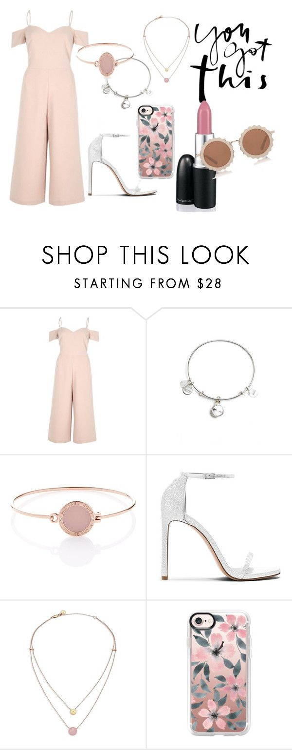 """""""Pink Beauty"""" by emilyyy000 ❤ liked on Polyvore featuring River Island, Alex and Ani, Michael Kors, Stuart Weitzman, MAC Cosmetics, Casetify and House of Holland"""