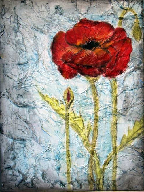 17 best images about tissue paper collage on pinterest for Painted paper flowers