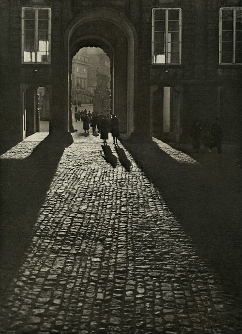 Josef Sudek - View of the First Courtyard through the Matthias Gate, date unknown