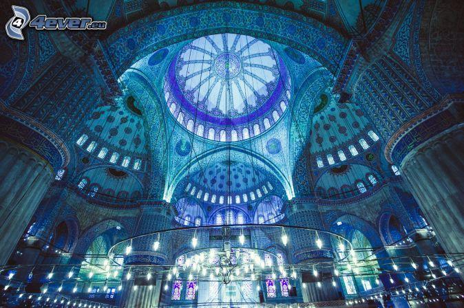 Die Blaue Moschee, Istanbul,Innenraum,