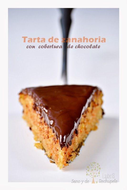 Laube Leal | Tarta de zanahoria con cobertura de chocolate. Sustituir huevos por plátanos.