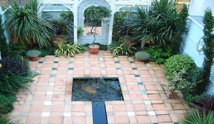 25 beautiful small courtyard gardens ideas on pinterest for Small trees for courtyard gardens