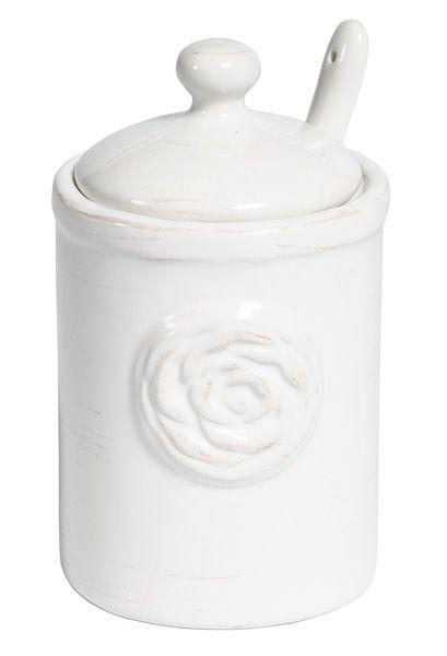 Cukiernica z łyżeczką z kolekcji #Belldeco Sorrento. #homedesign #diningroom #design