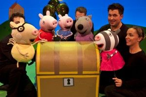 PeppaPig  In the UK, Fiery Light's third touring production, Peppa Pig's Big Splash, has just launched its nation-wide run that will include a fourth consecutive West End Christmas season. The show will tour theaters throughout the UK and Ireland until October 2014, making it the longest-running Peppa Pig stage show to date.
