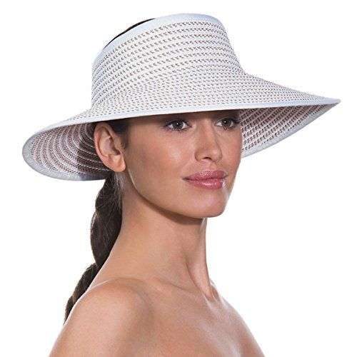 Eric Javits Womens Luxury Headwear Lil Squishee Visor White Mix * Read more  at the image link. (Note:Amazon affiliate link)