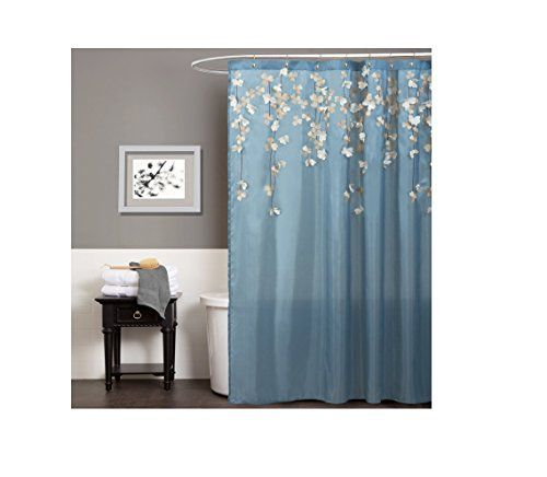 Lush Decor Flower Drops Shower Curtain 72 By Inch Federal Blue