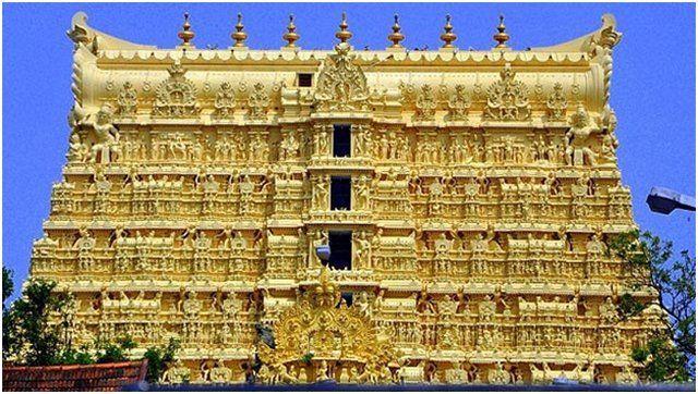 The incredible Padmanabhaswamy temple.