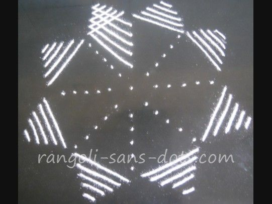 Rangoli with dots - step 3