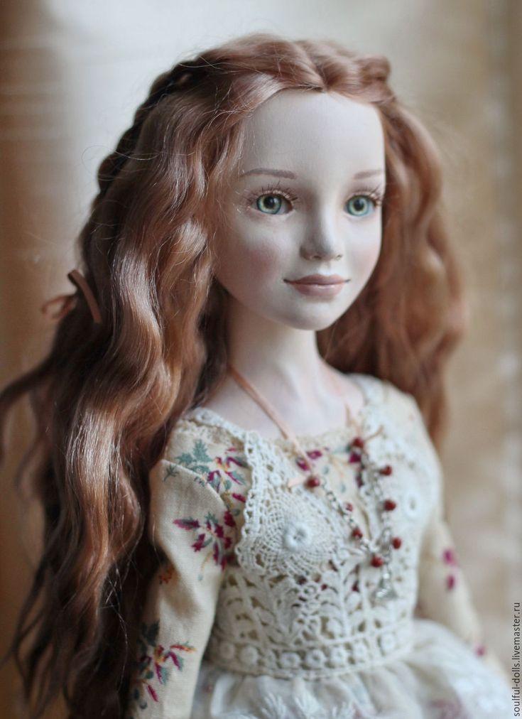 Art doll | Купить Нина - бежевый, бордовый, бирюзовый, кукла, кукла ручной работы, коллекционная кукла